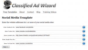 Social Media Craigslist Template