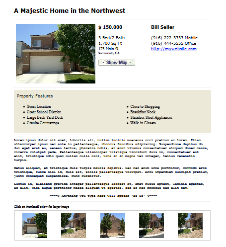 craigslist real estate template classified ad wizard With craigslist real estate template